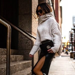 Free People Chunky Knit Turtleneck Sweater XS
